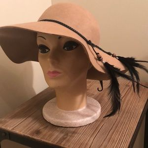 Camel tan fashion hat